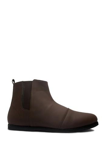 D-Island brown D-Island Shoes Boots Slip On Elegant Comfort Leather Dark Brown DI594SH04OBFID_1