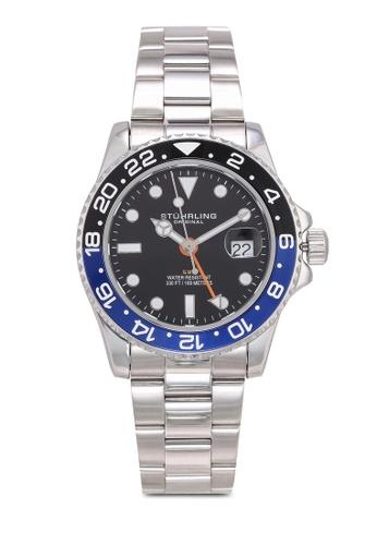 Stuhrling Original silver Meridian 3965 Watch A22EDAC3D204F5GS_1