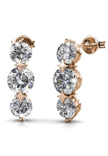 Her Jewellery gold Swarovski® Crystals -Elise Earrings (Rose Gold) (18K Rose Gold Plated) Her Jewellery HE581AC0RDO4MY_1