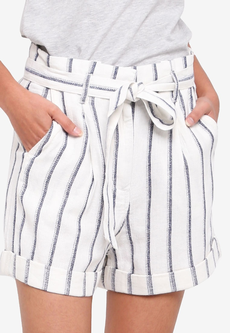 Ivory Bag Stripe Perkins Paper Shorts Ivory Dorothy xFYv0F