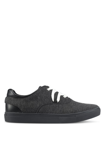 JAXON black Mixed Materials Casual Sneakers 0B870SH360F889GS_1