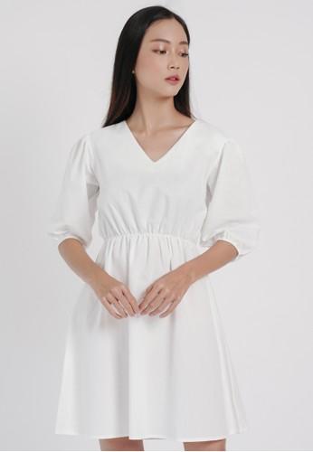 DARA white Rami Dress in White 0BDECAA5A529C3GS_1