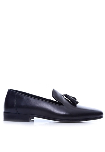 Zeve Shoes black Zeve Shoes Loafer Slipper - Black Grey (Hand Painted Patina) 617A1SHAF85248GS_1