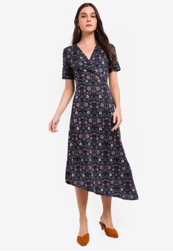 ZALORA multi and navy Asymmetrical Knit Dress 8E408AAD8953B5GS_1