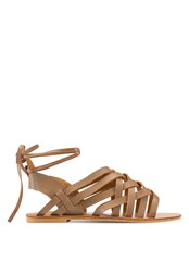 Velvet brown Colbie Weaved Laced Up Sandals 6C457SH6D8CAC2GS_1