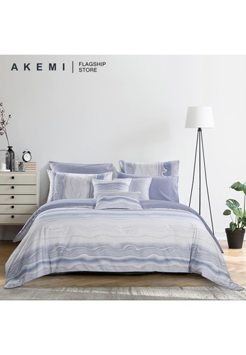 AKEMI blue AKEMI Cotton Select Adore - Wererry (Fitted Sheet Set). 8684EHL6E9AD69GS_1