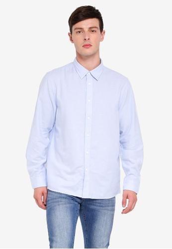 Calvin Klein 藍色 Solid Oxford Shirts - Calvin Klein Jeans FA120AA5C094B3GS_1