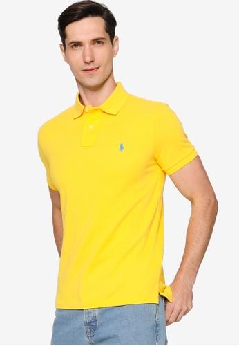 Polo Ralph Lauren 黃色 Custom Slim Fit Mesh Polo Shirt F6E6CAAEAC0E65GS_1