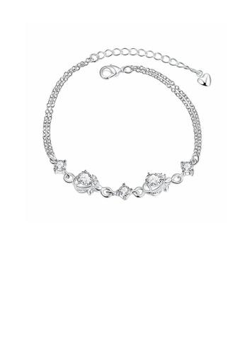 Glamorousky white Fashion Elegant Geometric Cubic Zircon Bracelet 6FB0AAC737B478GS_1