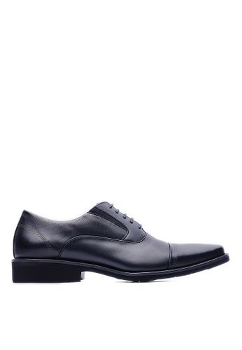 Life8 black MIT Casual Square Toe Leather Shoes-09231-Black LI286SH07FBSMY_1