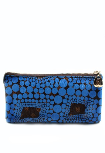 London Berry By HUER Vionne Monogram Wallet M with Wristlet