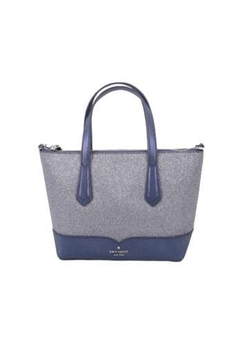 Kate Spade blue Kate Spade Lola Glitter WKR00159 Satchel Bag In Dusknavy 25296ACCD6221EGS_1