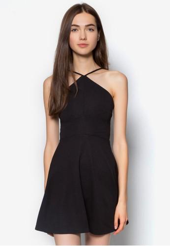 Lovzalora 心得e 繞脖細帶洋裝, 服飾, 派對洋裝