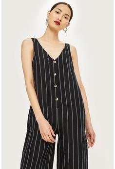28b961d99ed1 TOPSHOP black Petite Stripe Jumpsuit 500E3AAFE3AEE8GS 1