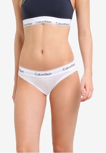 9958462af2cf6 Calvin Klein white Modern Cotton Bikini Panties - Calvin Klein Underwear  CA221US0RN3TMY 1