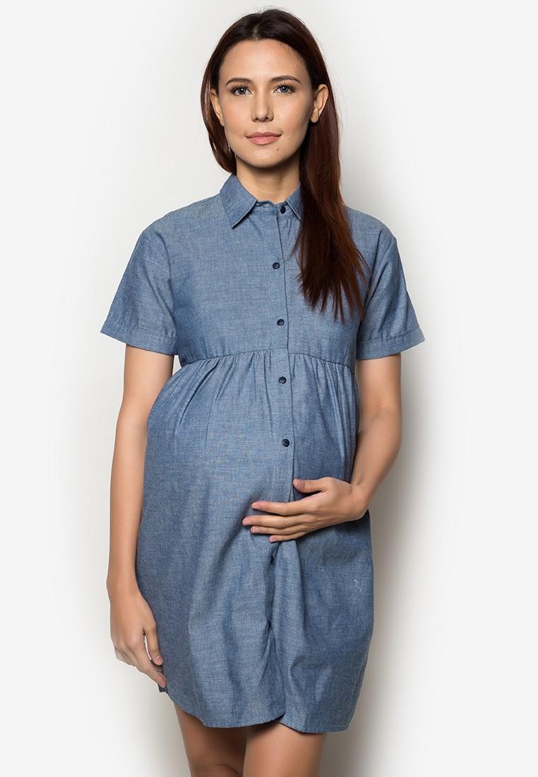 Maternity Chambray Dress
