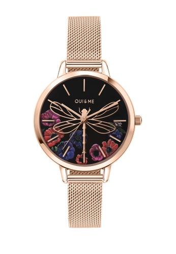 Oui & Me gold Fleurette Quartz Watch Rose Gold Metal Band Strap ME010102 BB710ACC4B1F4CGS_1