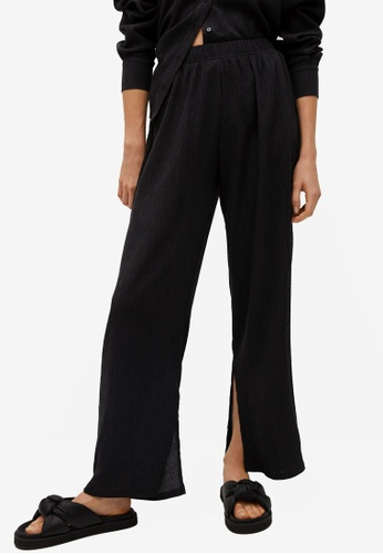 Mango black Straight Lyocell Trousers 8D102AA983DCDBGS_1
