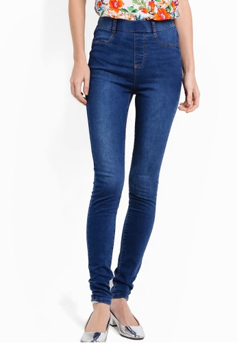Dorothy Perkins blue Midwash Eden High Waist Ultra-Soft Jeggings DO816AA48FKPMY_1