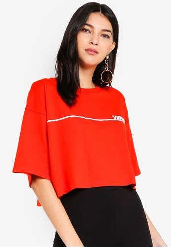 Factorie red Zoe Tee FB018AA391ED9EGS_1