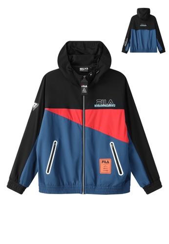 FILA black FILA x Maison MIHARA YASUHIRO Logo Color Blocks Hooded Jacket 44458AA6D5CD65GS_1