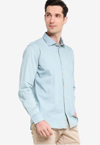 Sacoor Brothers blue Men's Denim Shirt 646ACAACAFFF9EGS_1