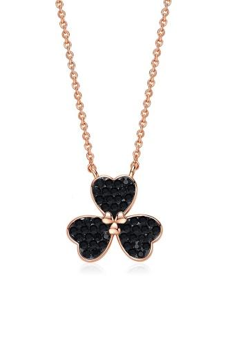 ADORA black Clover Pendent Necklace 03F13AC9332E9EGS_1