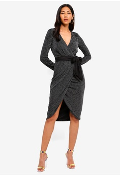 42fd50492d 60% OFF Lipsy Pinstripe Long Sleeve Fit And Flare Dress RM 359.00 NOW RM  143.90 Sizes 6 8 10