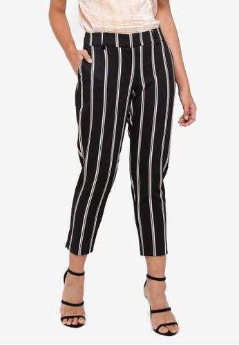 Dorothy Perkins black Petite Stripe Trousers 80E07AA6623715GS_1