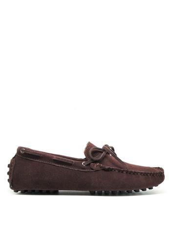 Twenty Eight Shoes 褐色 真牛猄皮休閒帆船鞋MC025 A5974SH2E18241GS_1