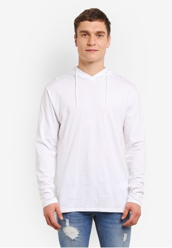 Factorie white Long Sleeve Hoodlum T Shirt FA880AA0SAAZMY_1