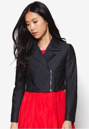 拼布短版丹寧外套, 服飾,esprit 內衣 夾克 & 大衣