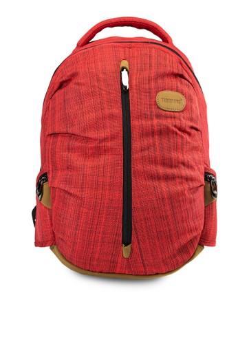 Belly 條紋後背包, 包, 電esprit 工作腦包