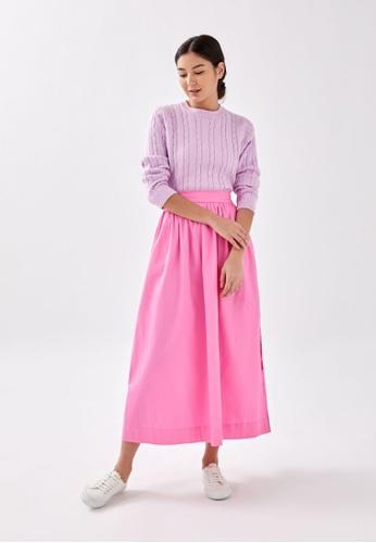Love, Bonito lilac purple Valenci Cable Knit Jumper DDACBAA1CD51E2GS_1