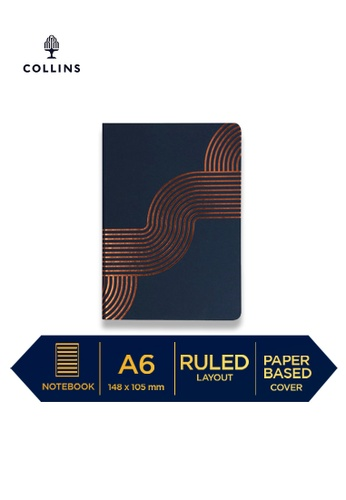 Collins Collins Vanguard  ─  NotebookA6 Ruled Blue Curved C6075HLAA8431FGS_1