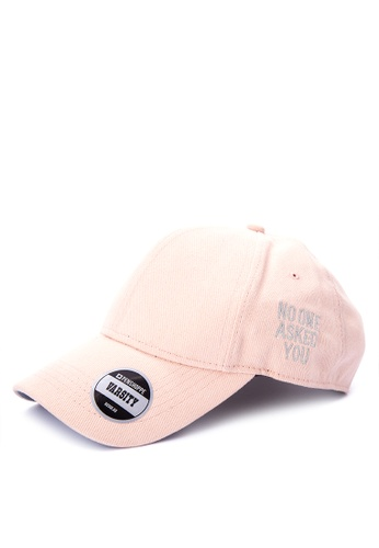 Penshoppe pink Single Jersey Baseball Cap 0B5C1AC49775CAGS_1