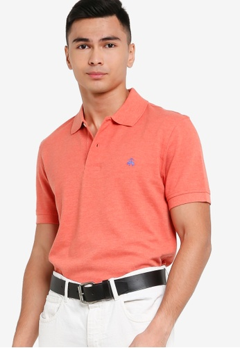 Brooks Brothers orange Casual Knit Polo Shirt 0459FAA44273D0GS_1