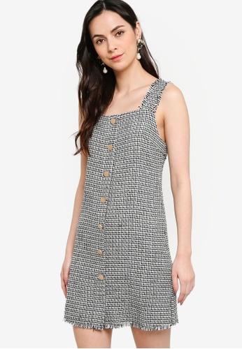 ZALORA WORK multi Square Neck Tweed Dress BDF2AAA83E40EBGS_1