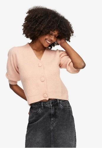 Vero Moda pink Peppy Knitted Cardigan E66F6AA355F034GS_1