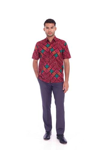 TUSCA pink Eusoff Classic Batik Shirt AAA0AAA2F08D7CGS_1
