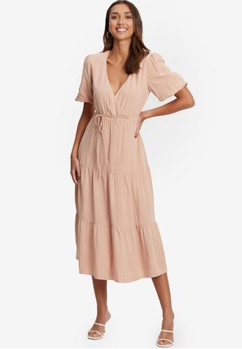 Tussah pink Becky Midi Dress 21634AAE69797DGS_1
