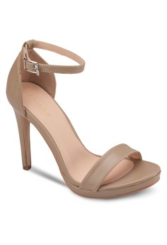 Basic High Heel Sandals With Ankle Strap