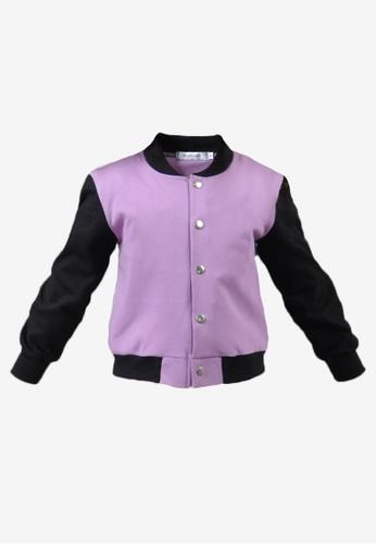 BF KIDS purple Hanna Bomber Jacket in Lilac 65285KAAC7A30FGS_1