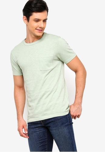 J.Crew 綠色 修身口袋T恤 B5100AAEB342D6GS_1