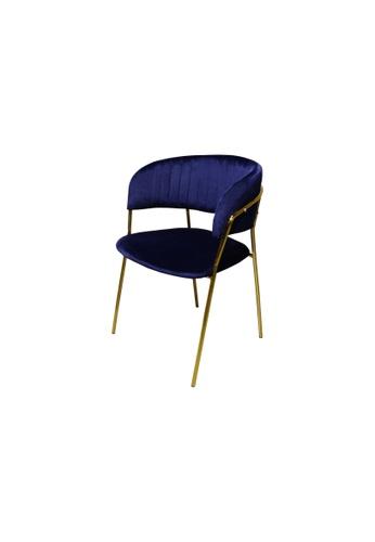 Chic Establishment blue and bronze Dunkirk Chair 0BD04HL9C929FCGS_1