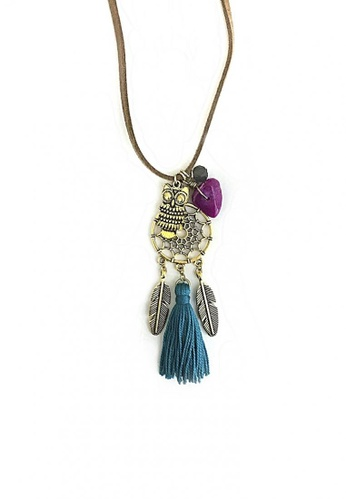 Shop Trinkets For Keeps Dream Catcher Boho Necklace Online On ZALORA Adorable Dream Catcher Necklace Philippines