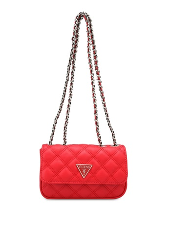 Guess red Cessily Micro Mini Sling Bag EF7A4ACC959DB6GS_1