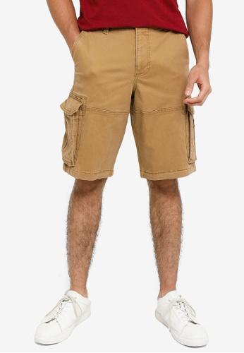 Hollister brown Plain Cargo Shorts 7A42EAA768BF06GS_1