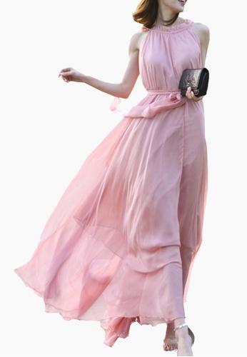 Twenty Eight Shoes pink VANSA Chiffon Maxi Dress  VCW-D0183 5D023AAAB52340GS_1