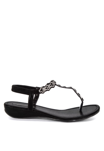 9cb9ac553 Shop Primadonna Jeweled Flat Thong Sandals Online on ZALORA Philippines